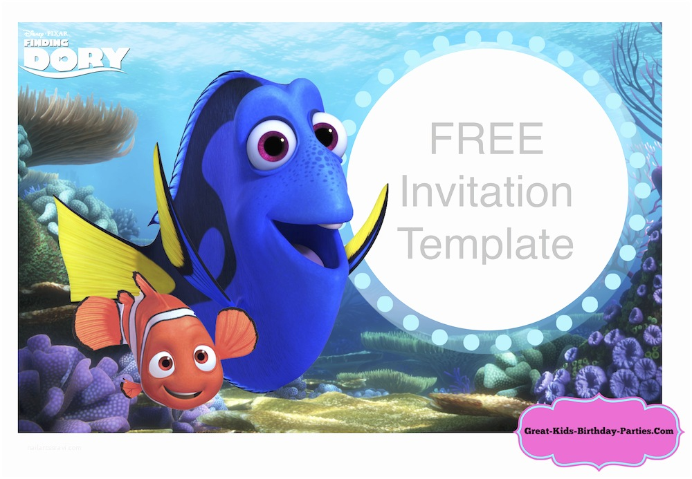 Finding Nemo Birthday Invitations Finding Nemo Birthday Party