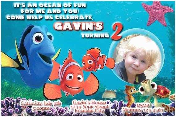 Finding Nemo Birthday S Finding Nemo And Dory Birthday Party Digital