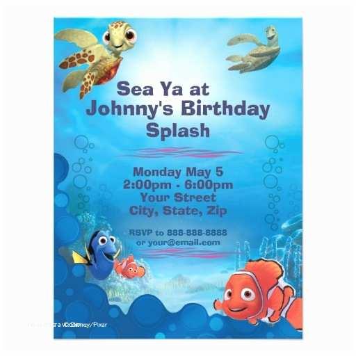 "Finding Nemo Birthday S Finding Nemo Birthday  4 25"" X 5 5"""