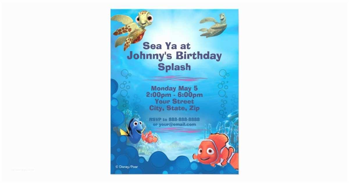 Finding Nemo Birthday Invitations Finding Nemo Birthday Invitation