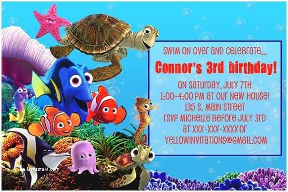 Finding Nemo Birthday Invitations Finding Nemo Birthday Invitation You Print By
