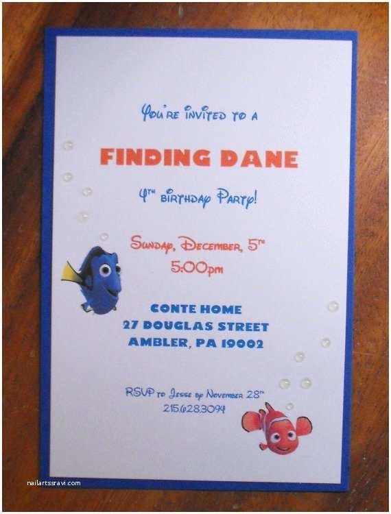 Finding Nemo Birthday Invitations Finding Nemo Birthday Invitations By Cardsbypamela On