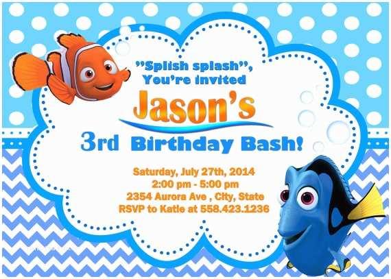 Finding Nemo Birthday Invitations Finding Nemo Birthday Party Invitation By