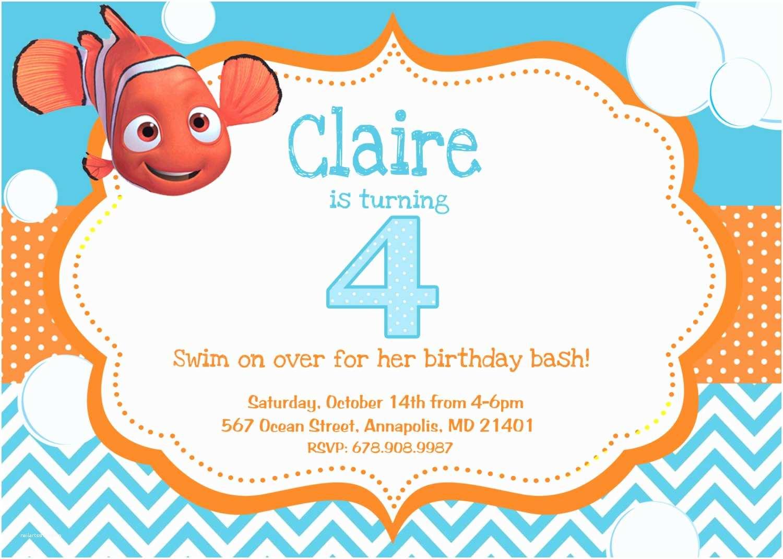Finding Nemo Birthday Invitations Finding Nemo Birthday Party Invitation Digital File