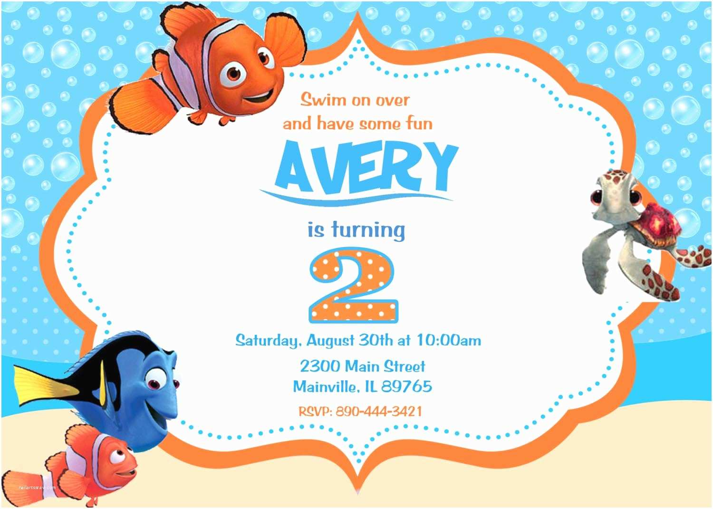 Finding Nemo Birthday Invitations Finding Nemo Birthday Party Invitations