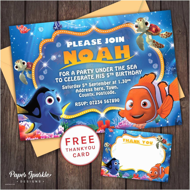 Finding Nemo Birthday Invitations Finding Nemo Invitation Nemo Birthday By
