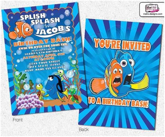 Finding Nemo Birthday Invitations Finding Nemo Invitations Nemo Invitations by Metro