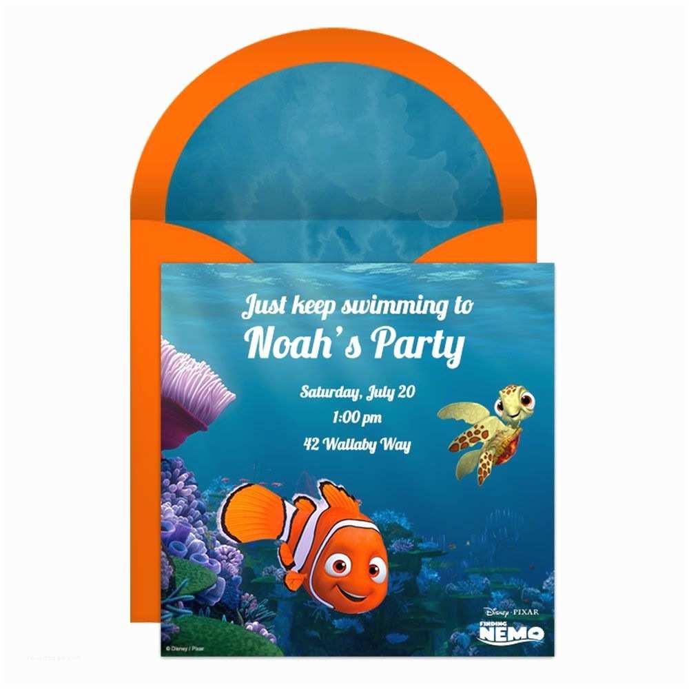 Finding Nemo Birthday S Finding Nemo Party Line