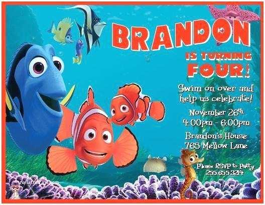 Finding Nemo  Invitations Finding Nemo Personalized