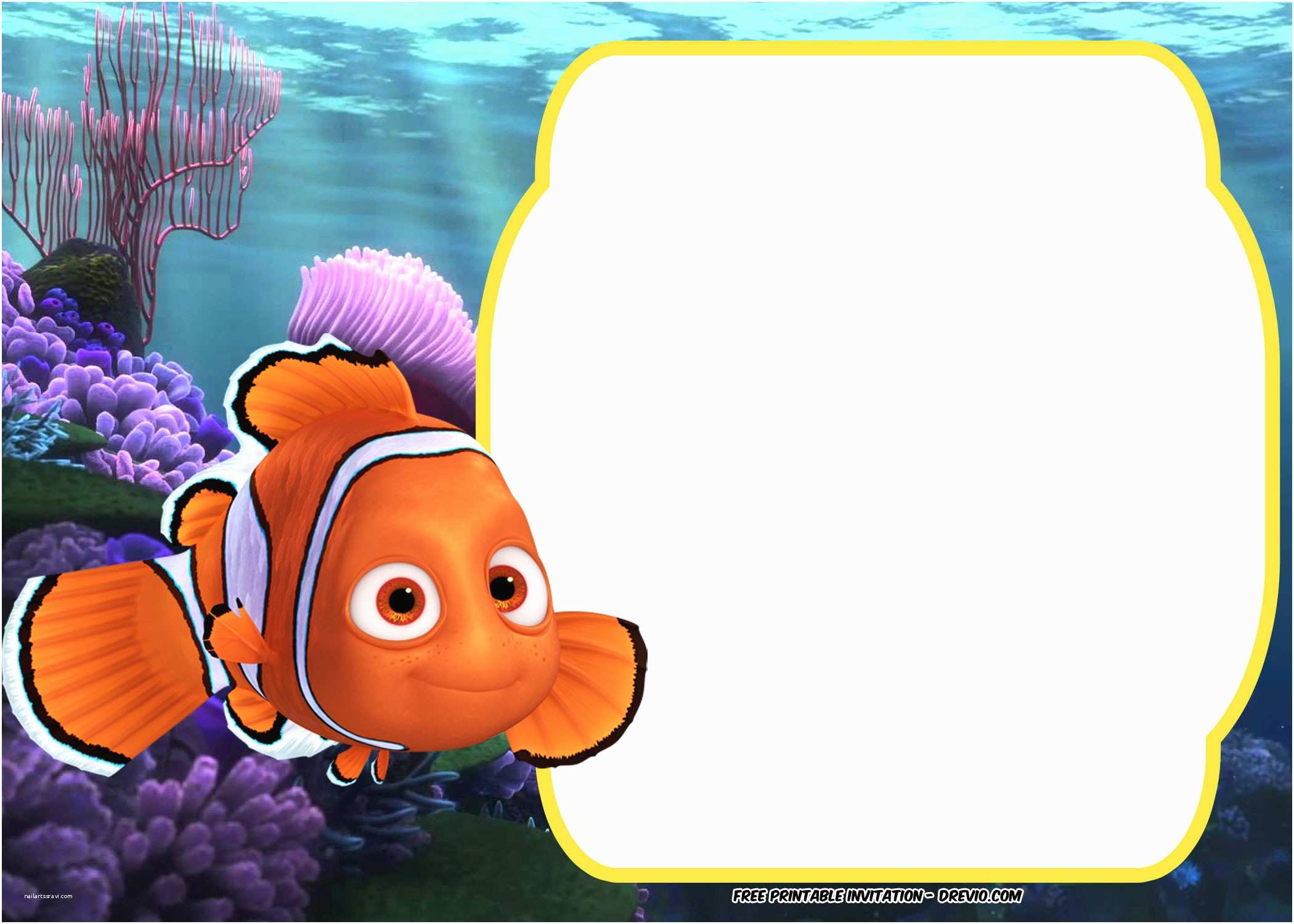 Finding Nemo Birthday Invitations Free Dory Baby Shower Invitation Template