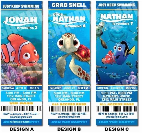 Finding Nemo Birthday Invitations Unavailable Listing On Etsy