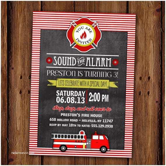 Fire Truck Birthday Invitations Fire Truck Birthday Invitation Fire Station sound the