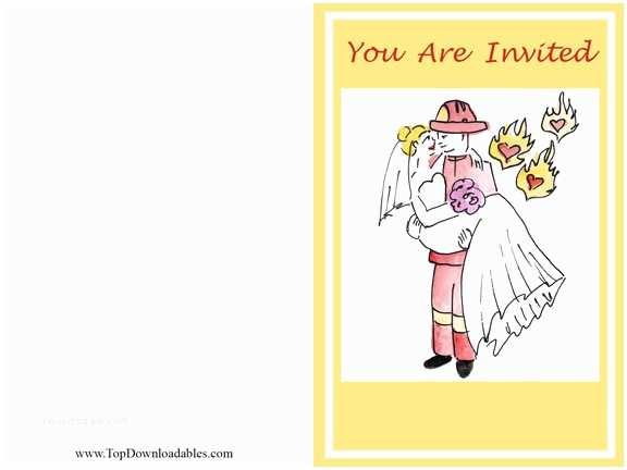 Firefighter themed Wedding Invitations 20 Staggering Firefighter Wedding Invitations You Can