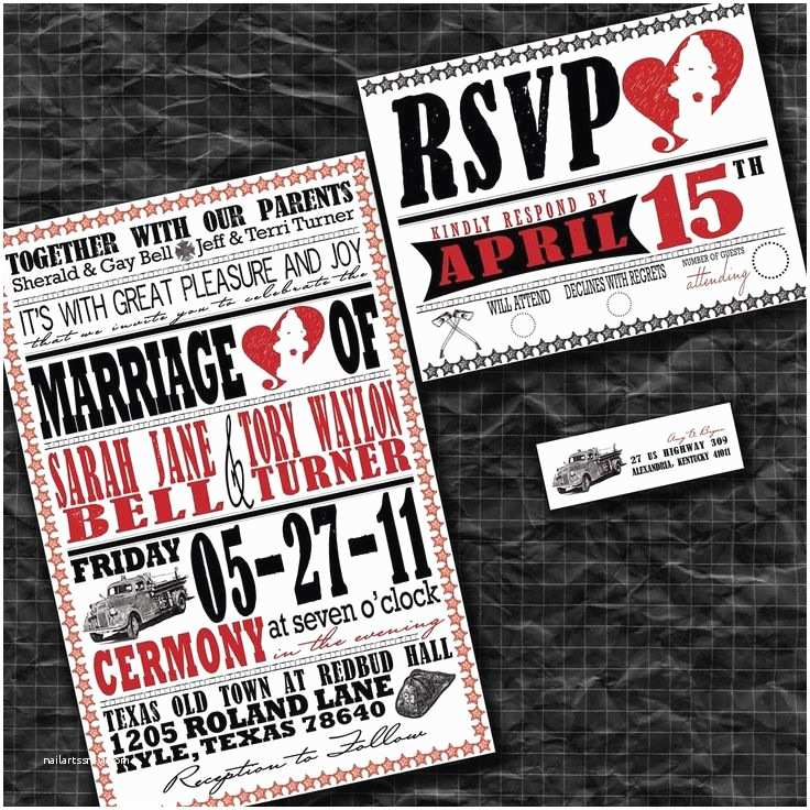Firefighter themed Wedding Invitations 28 Best Fire Fighter Images On Pinterest