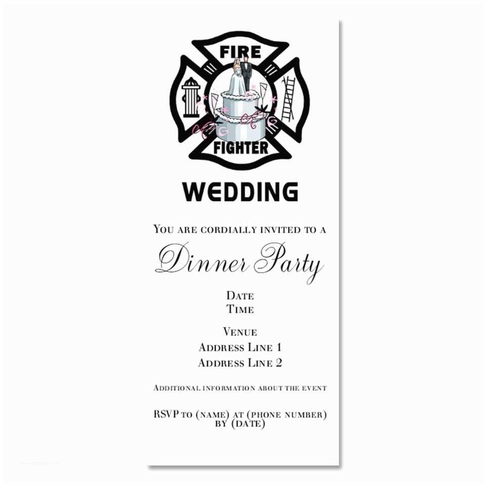 Firefighter themed Wedding Invitations Fireman Wedding Invitations
