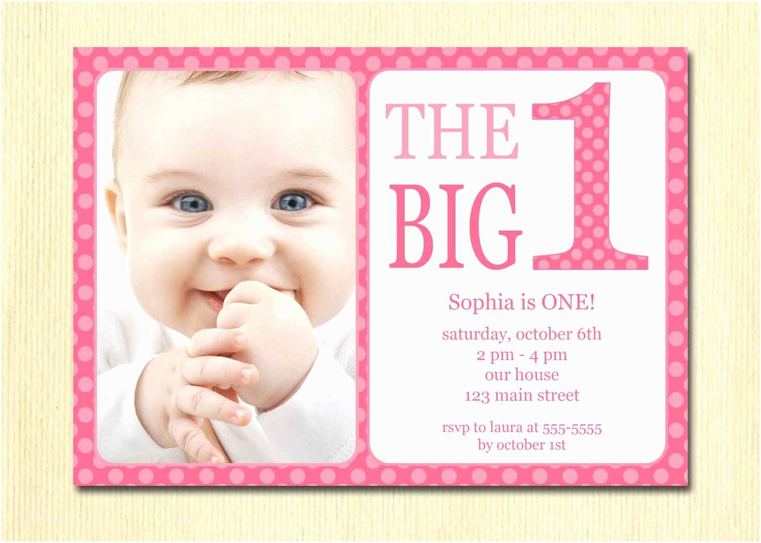 First Birthday Invitation Birthdays Cute Cards And 1st