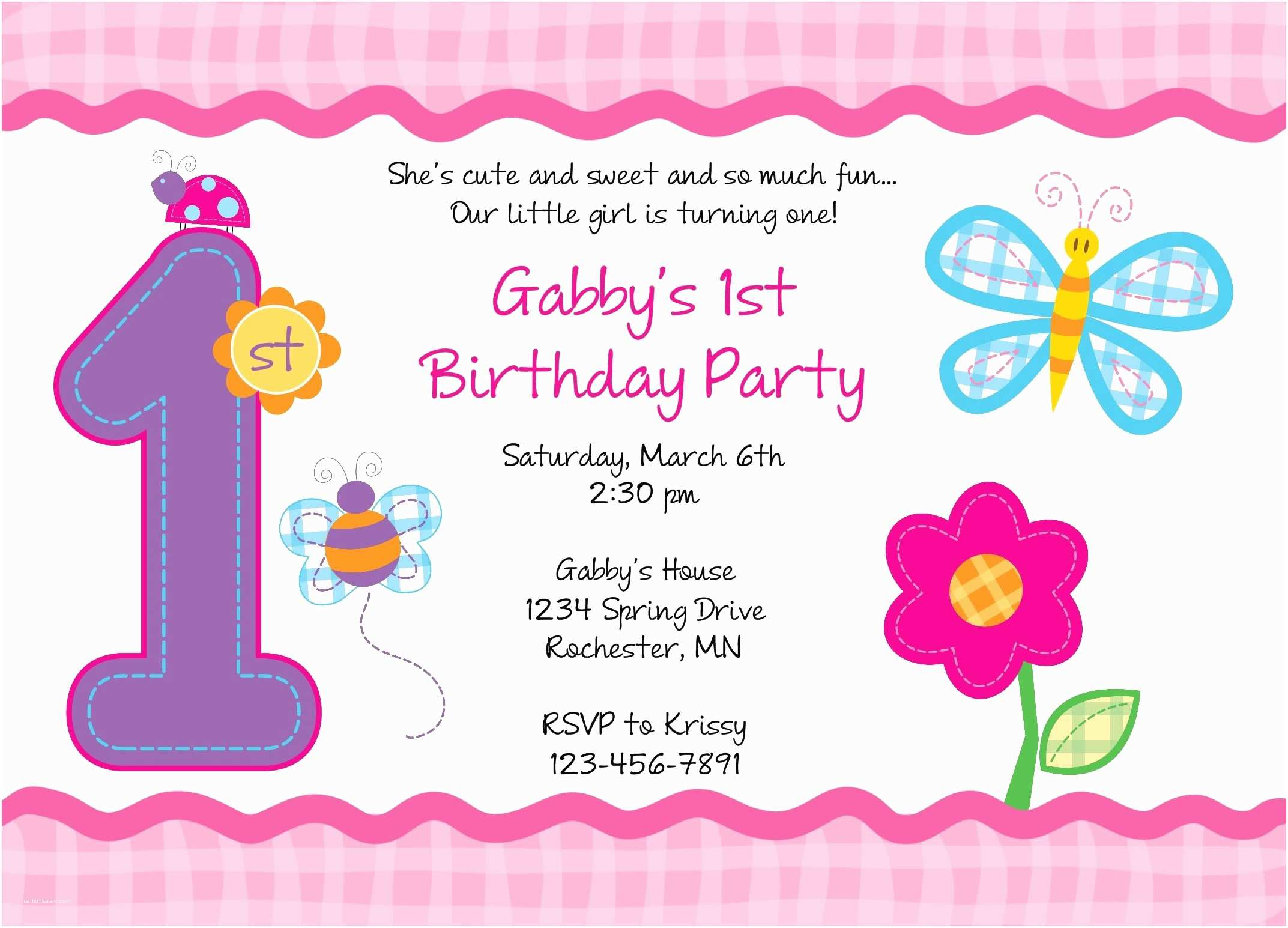 First Birthday Invitation First Birthday Party Invitations Templates Free