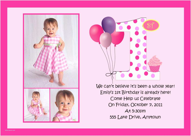 First Birthday Invitation First Birthday Pink Birthday Invitation Many Designs to