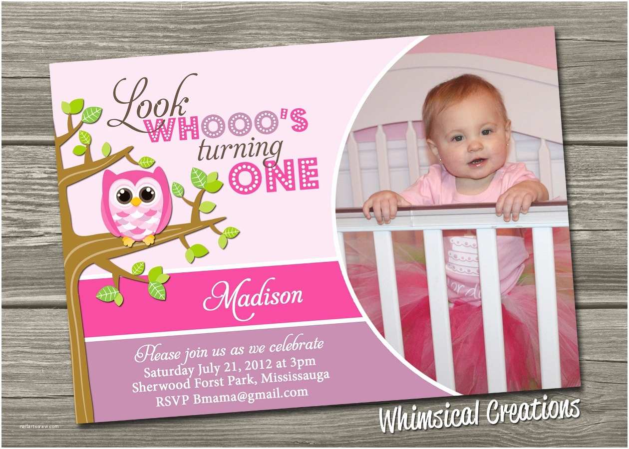 First Birthday Invitation Owl 1st Invitations Ideas Bagvania Free