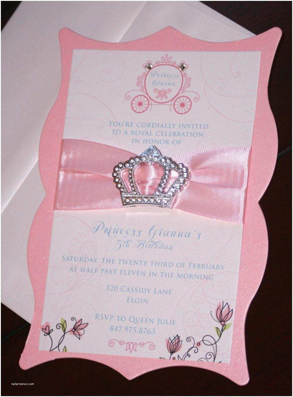 First Birthday Invitation Princess Birthday Invitations