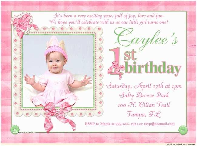 First Birthday Invitation Wording 16th Birthday Invitations Templates Ideas 1st Birthday