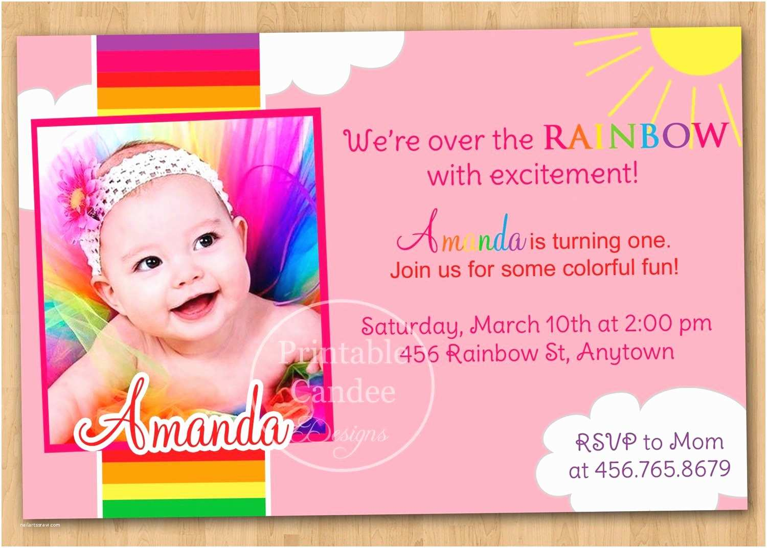 First Birthday Invitation Wording 1st Cards Templates Free
