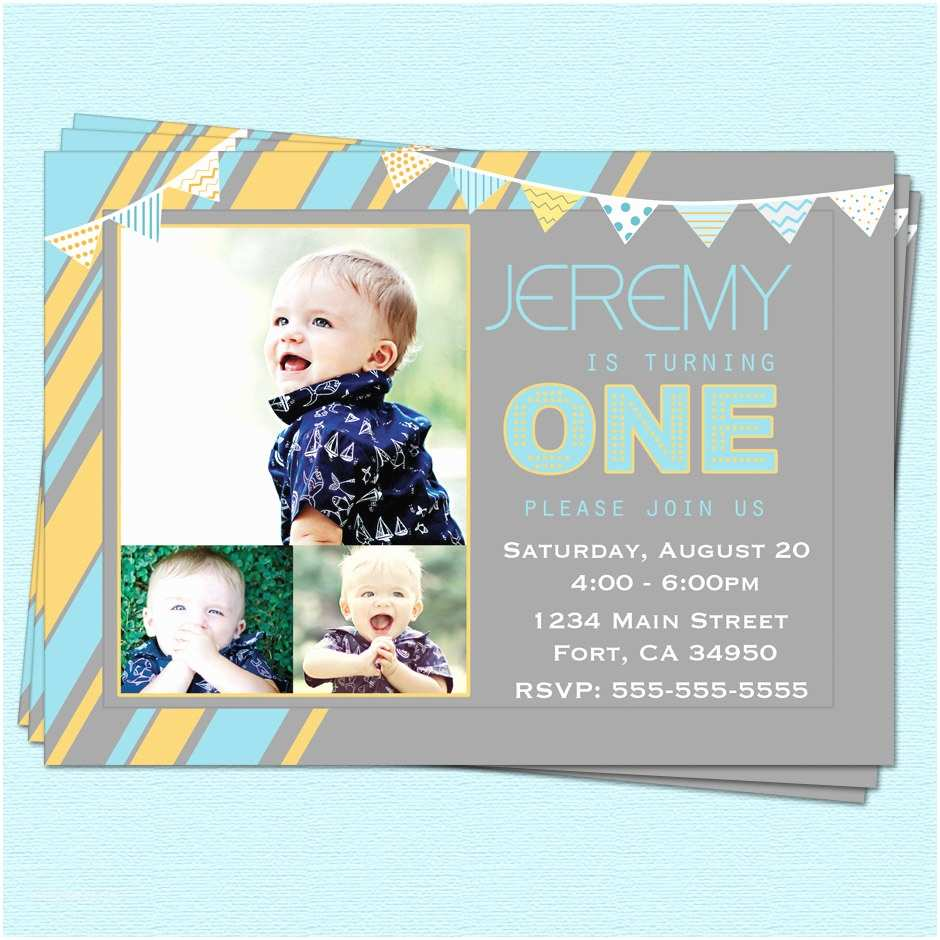 First Birthday Invitations Boy 6 Best Of 1st Printable