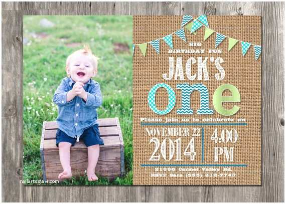 First Birthday Invitations Boy First Birthday Invitation Boy S 1st Party Invite by