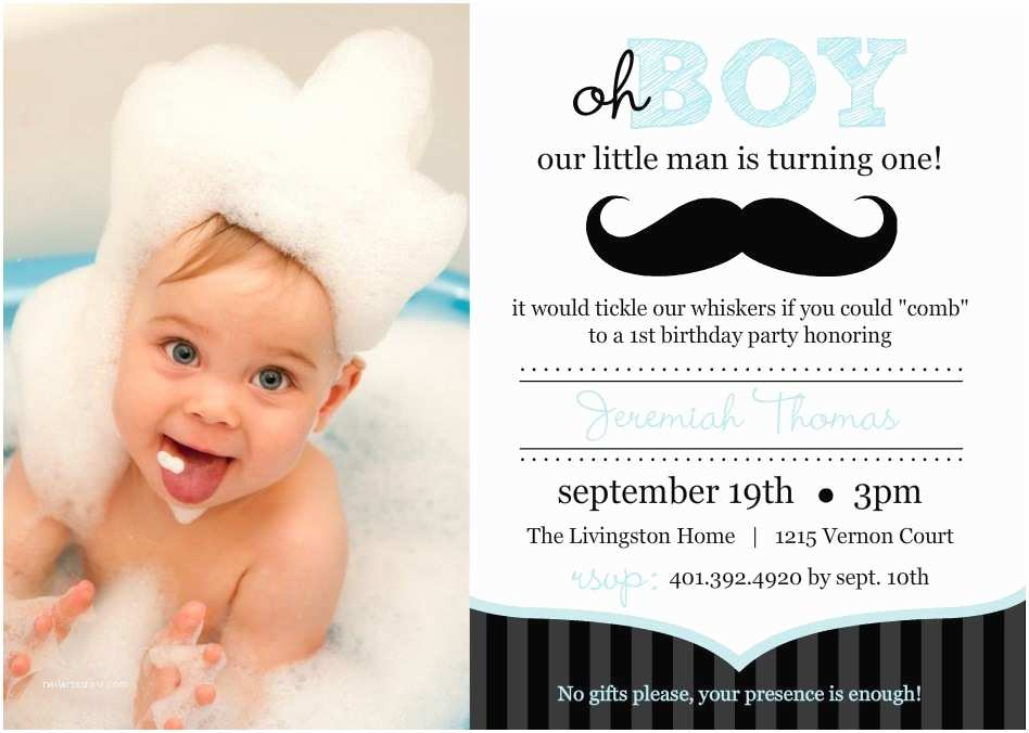 First Birthday Invitations Boy First Birthday Invitations