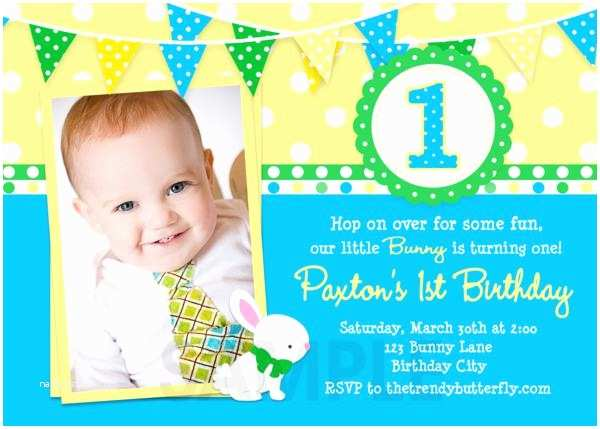 First Birthday Invitations Boy Printable Birthday Invitations Girls Easter Spring First