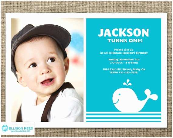 First Birthday Invitations Boy Whale Invitation 1st Birthday Invitation Nautical