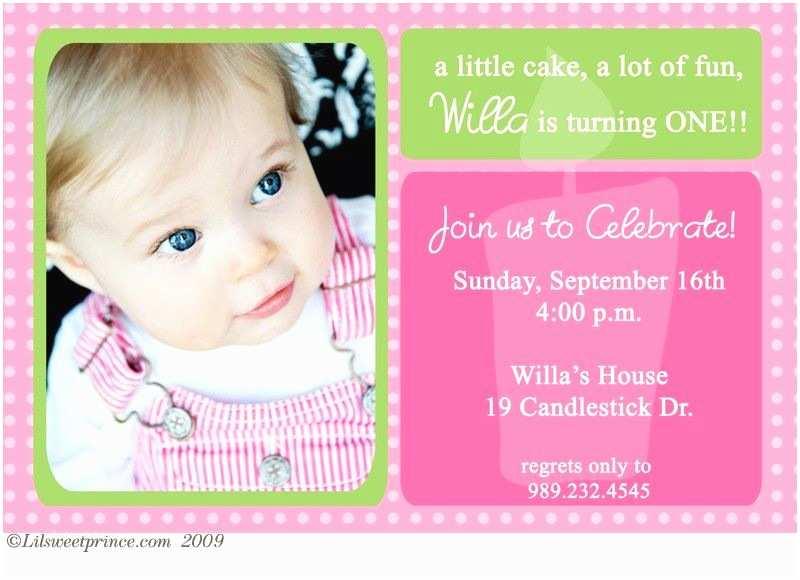 First Birthday Invitations Girl 1st Birthday Invitations
