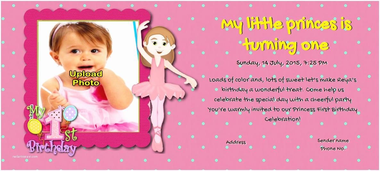 First Birthday Invitations Girl Free Birthdays Invitation Card & Line Invitations
