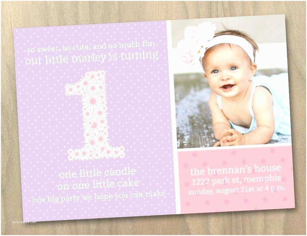 First Birthday Invitations Girl New 1st Birthday Invitation Template Free Printable for