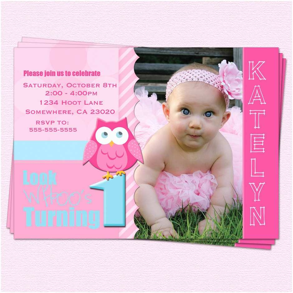 First Birthday Invitations Owl 1st Ideas Bagvania Free