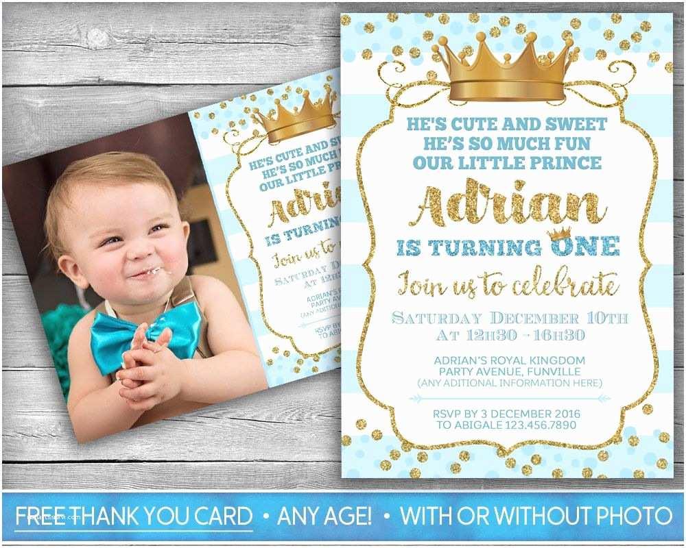 First Birthday Invitations Prince Invitation Little Prince First Birthday