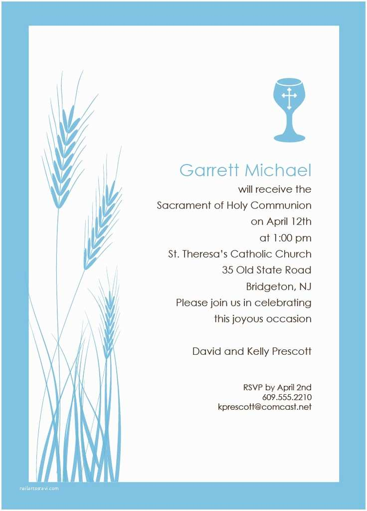 First Communion Invitation Templates First Munion Invitation Templates – orderecigsjuicefo
