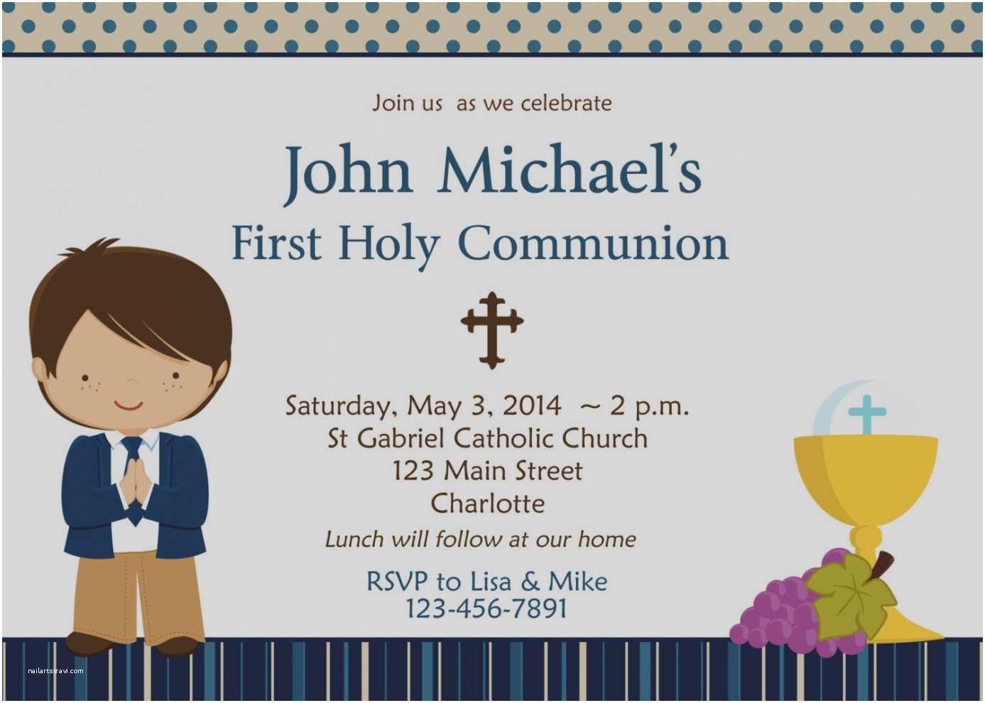 First Communion Invitation Templates Inspirational Holy Munion Invitations Personalised