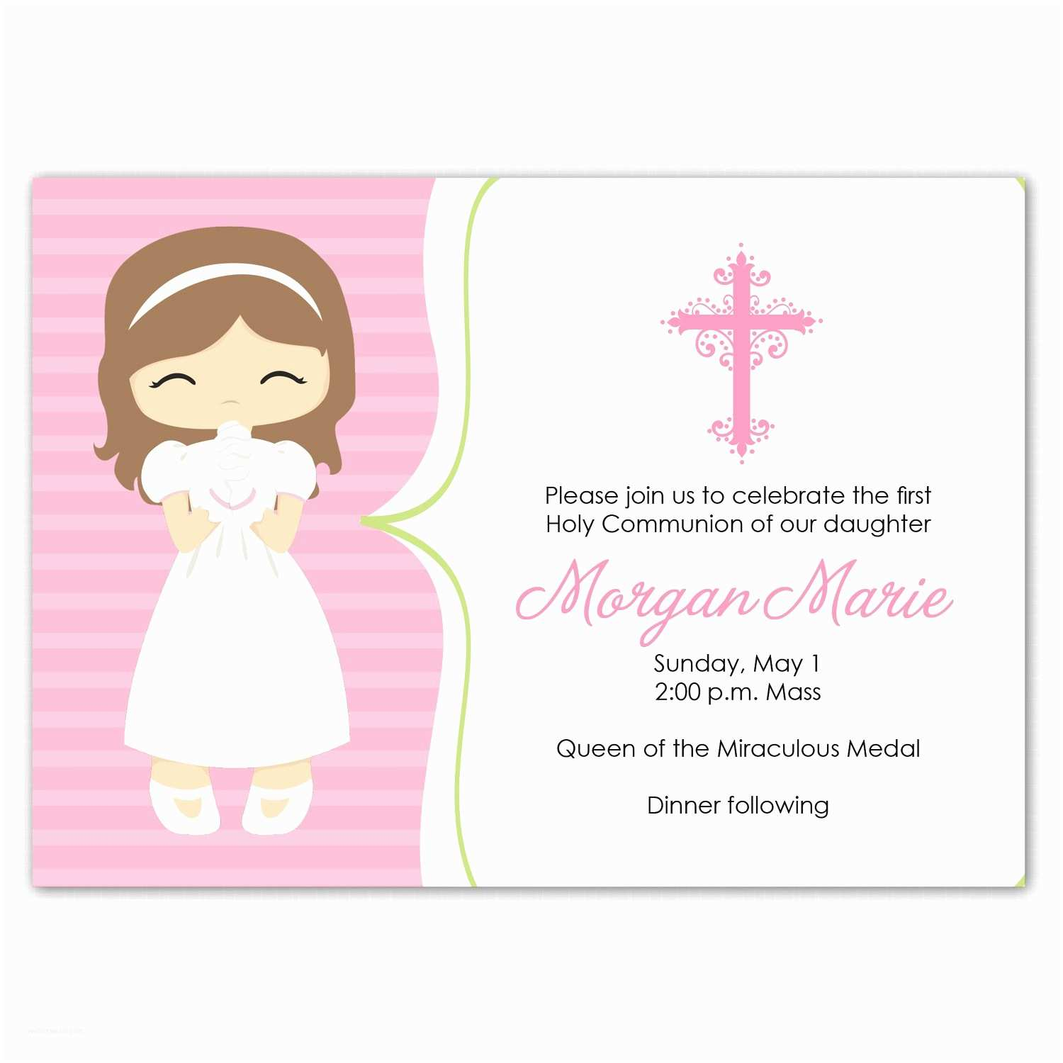 First Communion Invitation Wording Awesome Ideas First Munion Invitation Cards White