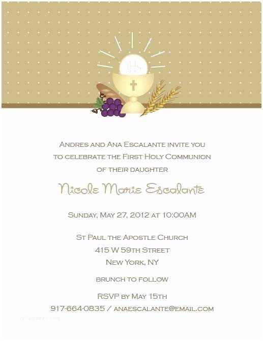 First Communion Invitation Wording First Holy Munion Invitations