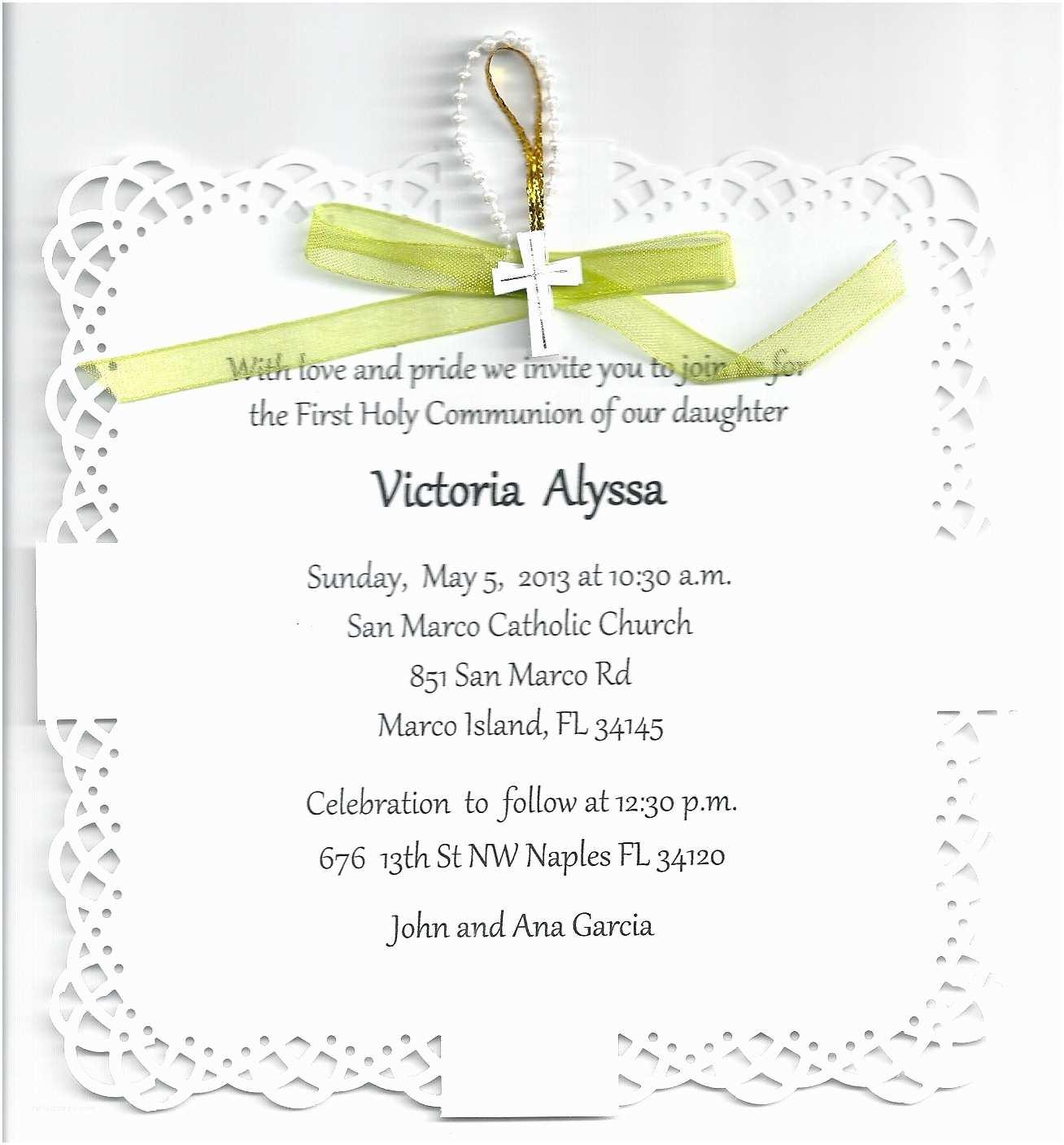 First Communion Invitation Wording Impressive First Munion Invitation Design Ideas Emuroom
