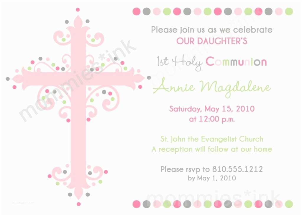 First Communion Invitation Wording Impressive First Munion Invitation Design Ideas Emuroom