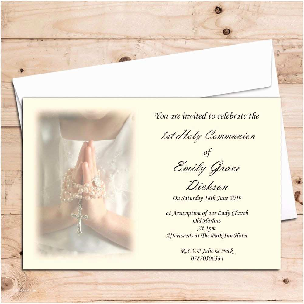 First Communion Invitations 10 Girls 1st First Holy Munion Invitations Invites
