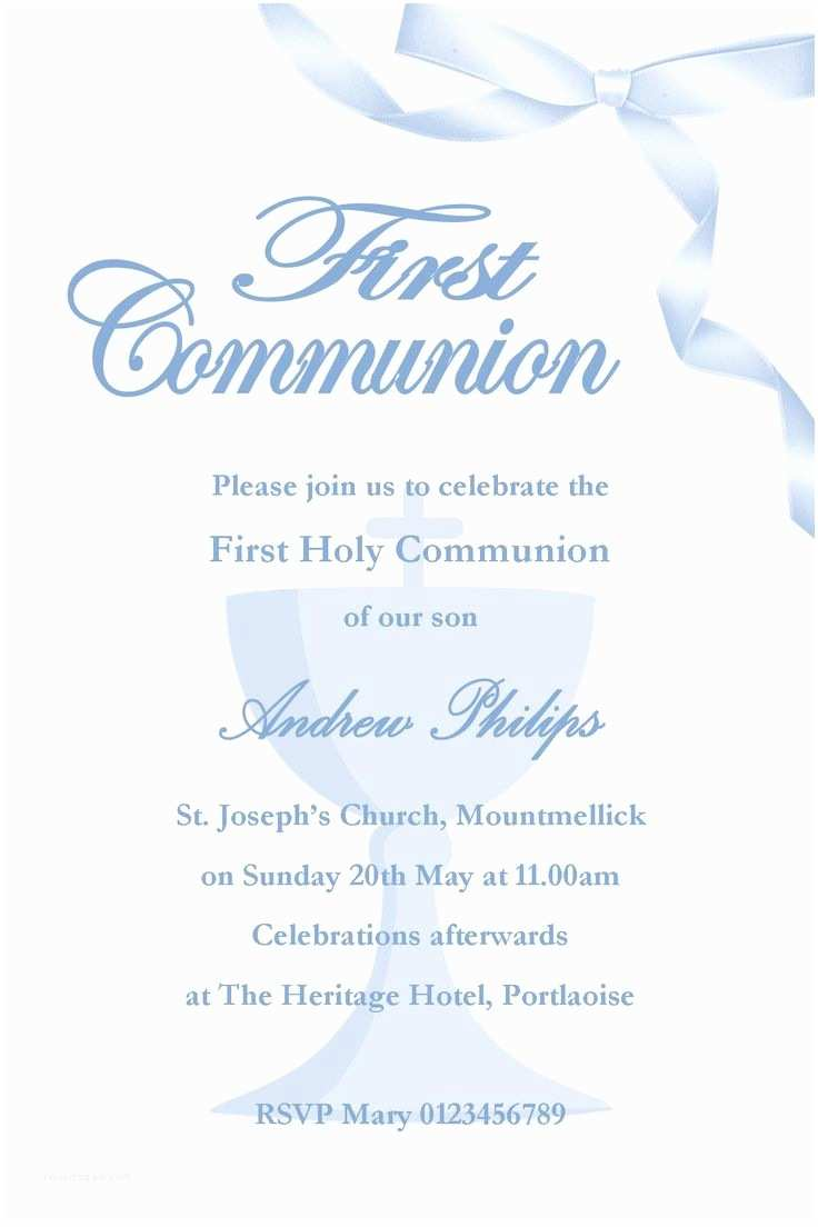 First Communion Invitations 1000 Ideas About Munion Invitations On Pinterest