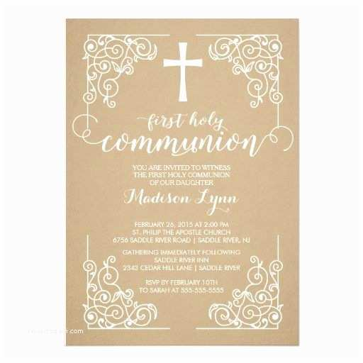 First Communion Invitations 25 Best Ideas About Munion Invitations On Pinterest
