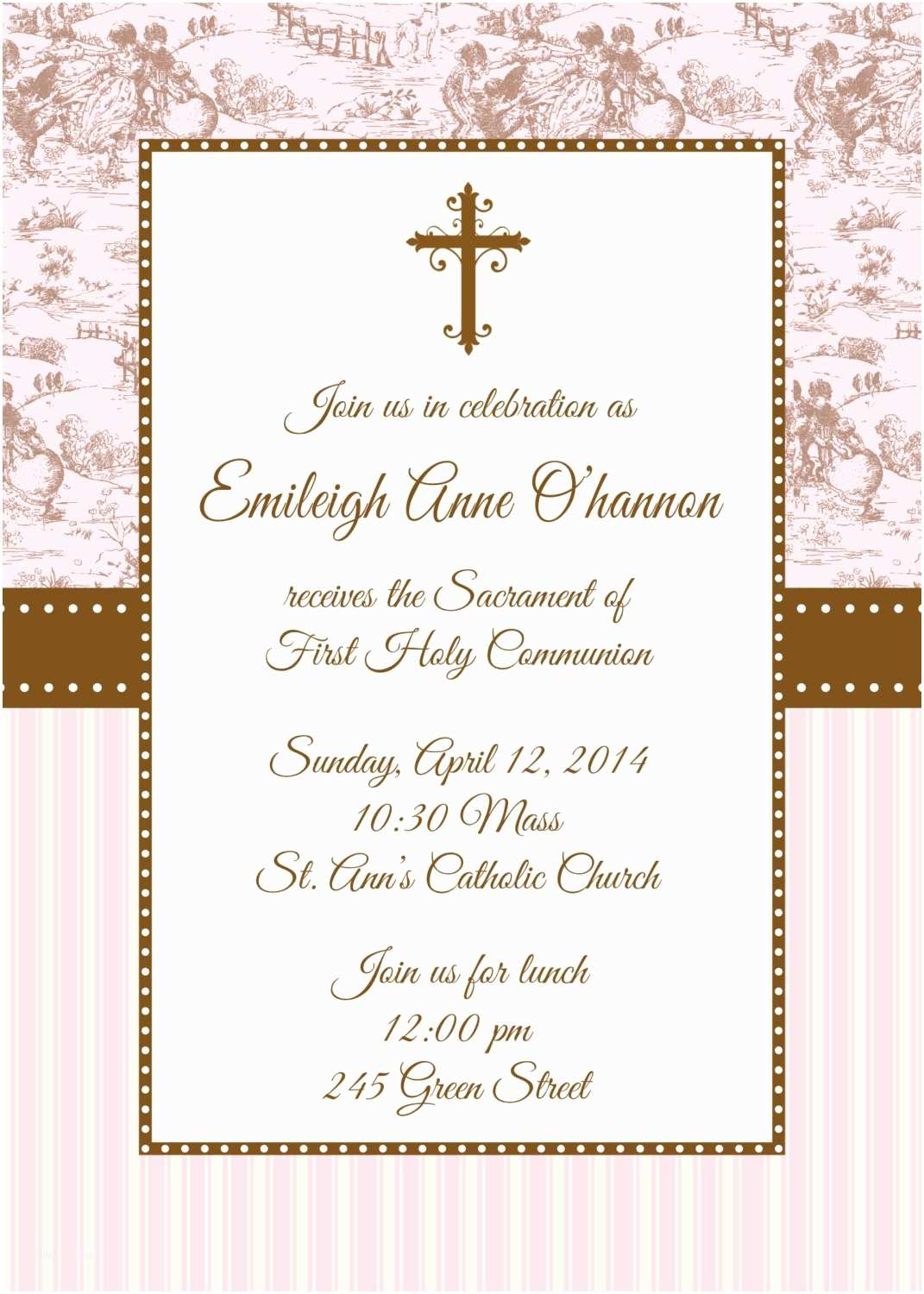 First Communion Invitations First Holy Munion Invitation First Munion Invitation