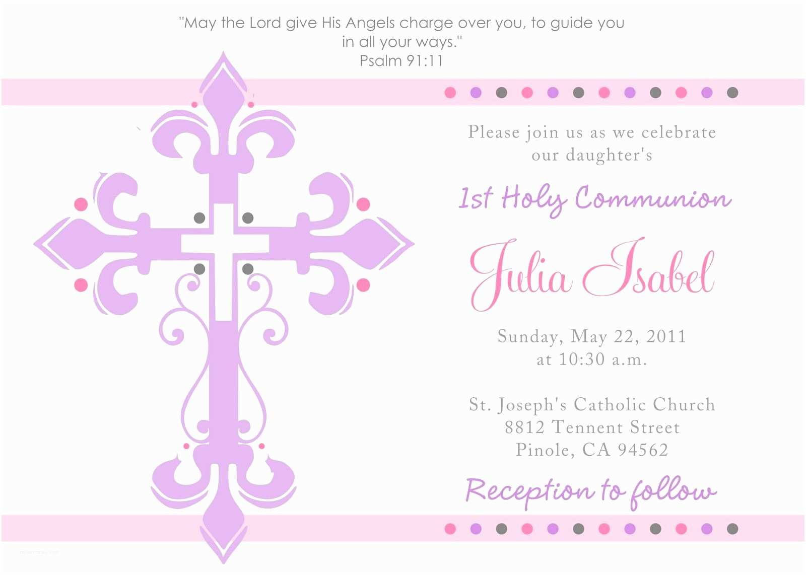 First Communion Invitations First Holy Munion Invitations