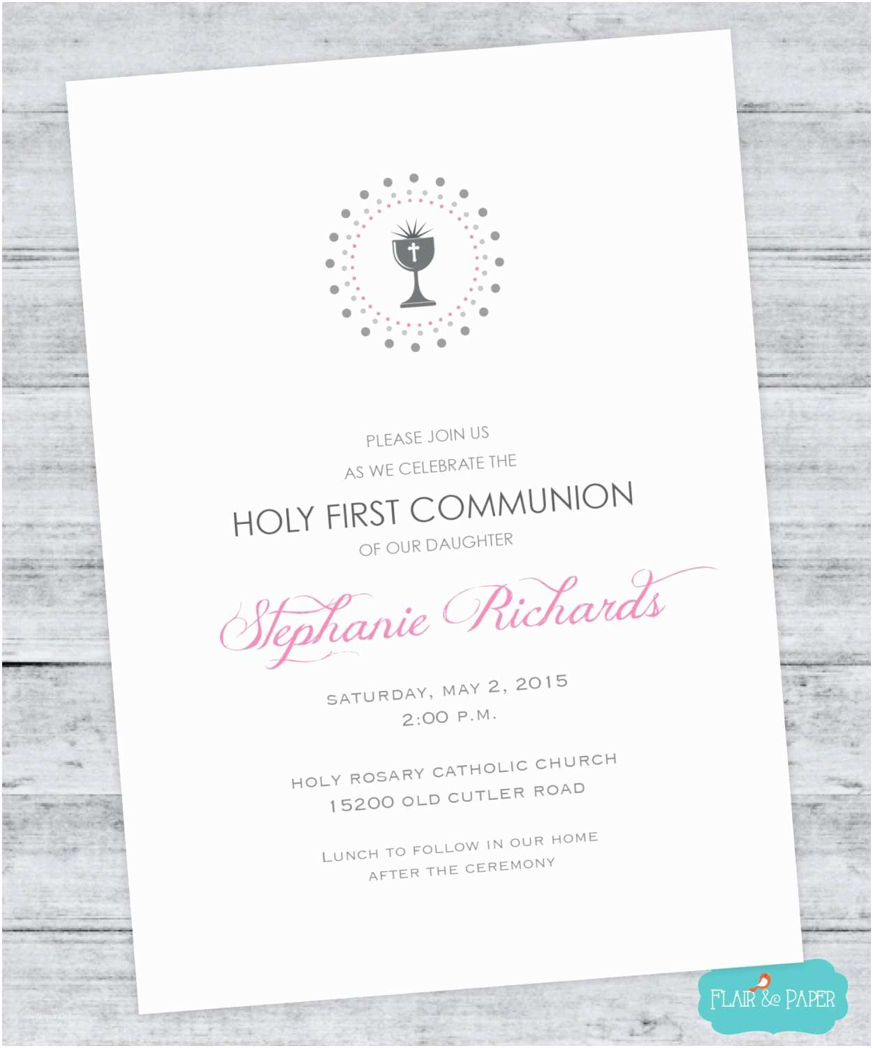 First Communion Invitations First Munion Invitation Holy First Munion by