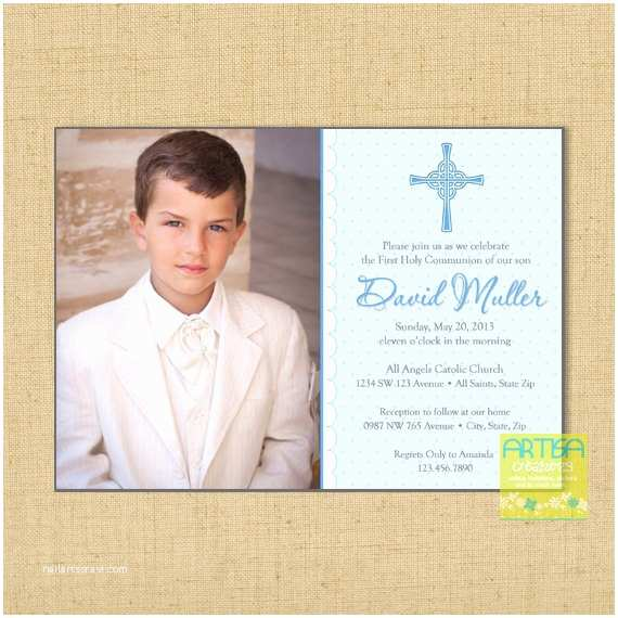 First Communion Invitations for Boys Boy First Munion Invitations Boys First Munion