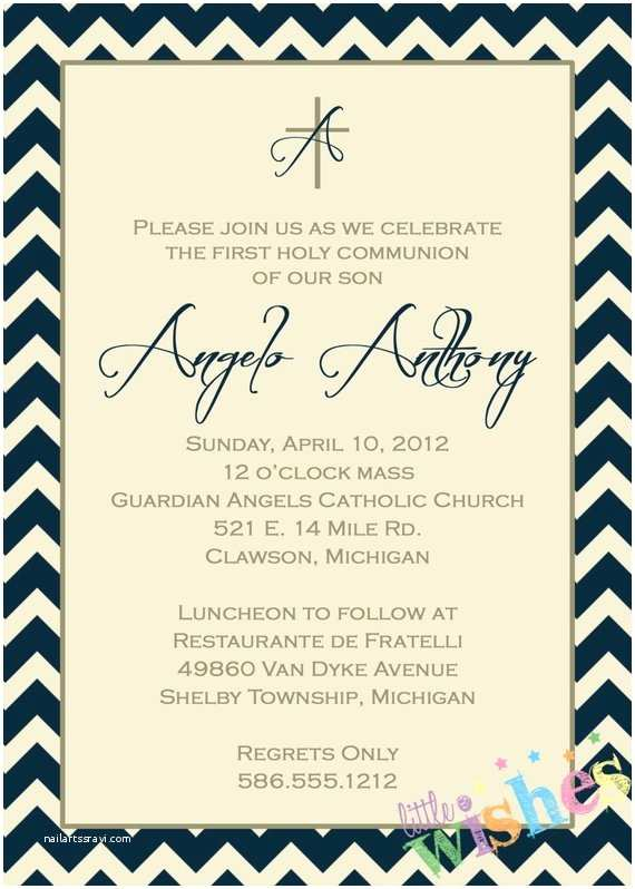 First Communion Invitations for Boys Boys First Munion Invitation by Littlewishesdesign On Etsy